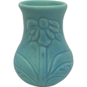 Van Briggle Pottery Turquoise Coneflower Cabinet Vase