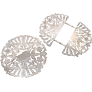 Pair of Wallace Silver Trivets, One Expandable
