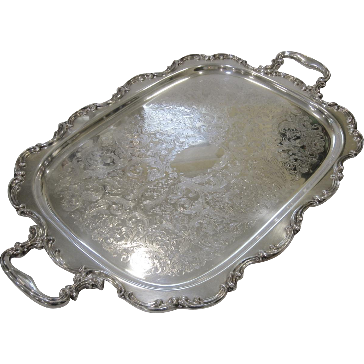 Large Gorham Silver Newport Tray or Waiter