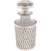 Antique Sterling Clad French Perfume Bottle with Sterling Stopper