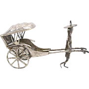 Chinese Export Sterling Silver Rickshaw