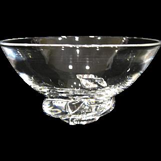 1954 Steuben Glass Spiral Bowl, Don Pollard Design