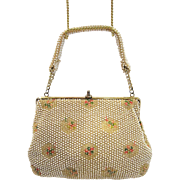 Vintage Corde Bead Evening Bag