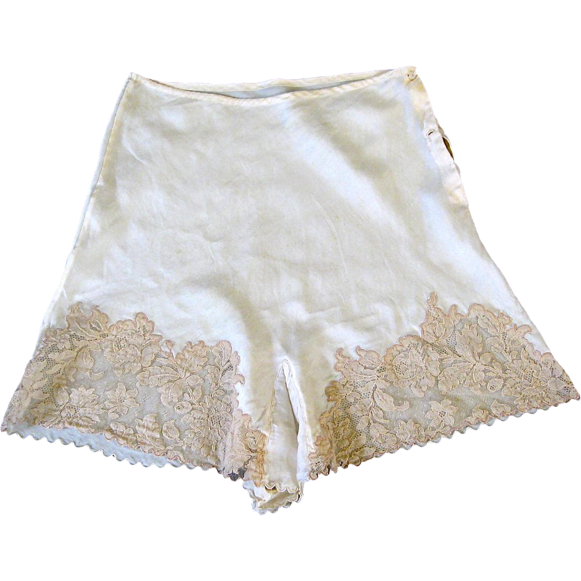 1939 Silk and Lace Custom Made Trousseau Tap Pants