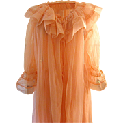 Vintage Evette Double Nylon and Lace Peignoir Set