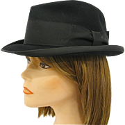 1950s Stetson Royal DeLuxe Black Homburg Size 7