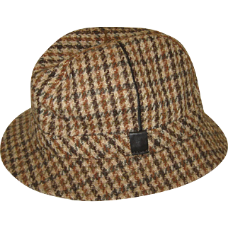 Men's English Elgin Trilby Wool Tweed Hat