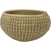 Old Sweet Grass Basket with Rolled Rim