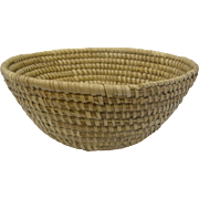 Huge Antique Sweet Grass Bowl Basket