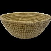 Huge Antique Sweet Grass Bowl Basket