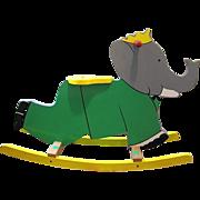 Vilac France Babar the Elephant Rocking Riding Toy