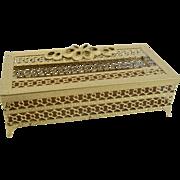 Vintage Gold Plated Tissue Holder