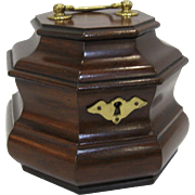 Henkel Harris Virginia Galleries Mahogany Octagonal Tea Caddy