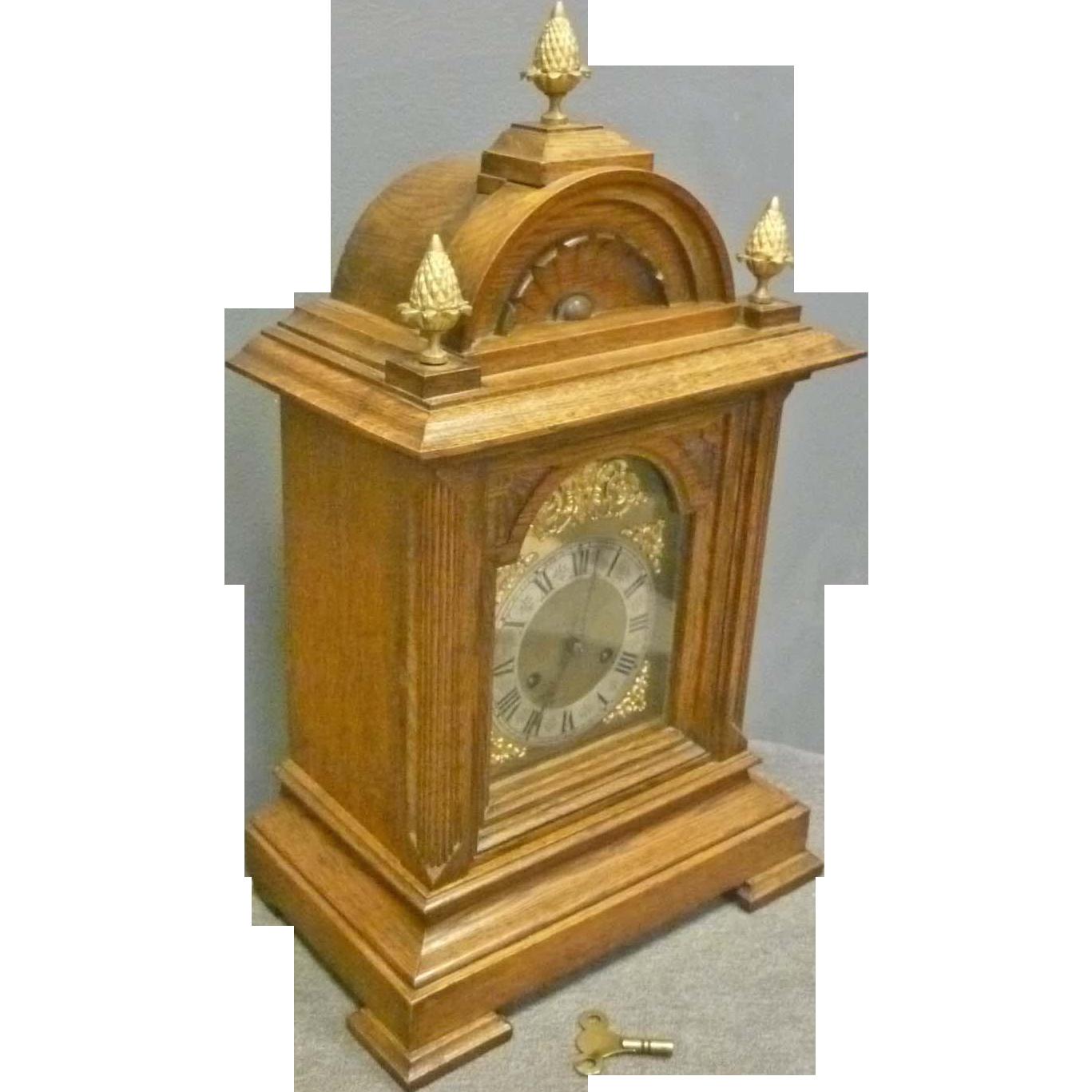 Oak German Bracket Clock