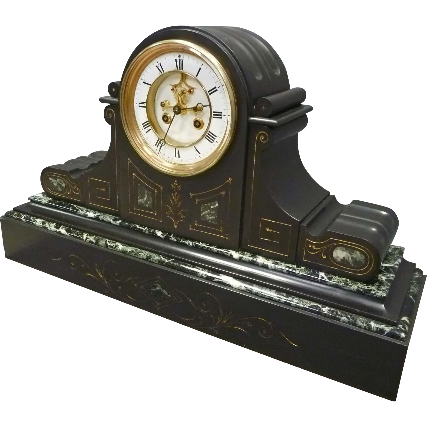 French Marble Mantle Clock