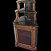 Victorian Corner Cupboard, Corner Cabinet