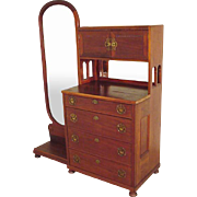 Mahogany Dresser with Mirror, Cheval
