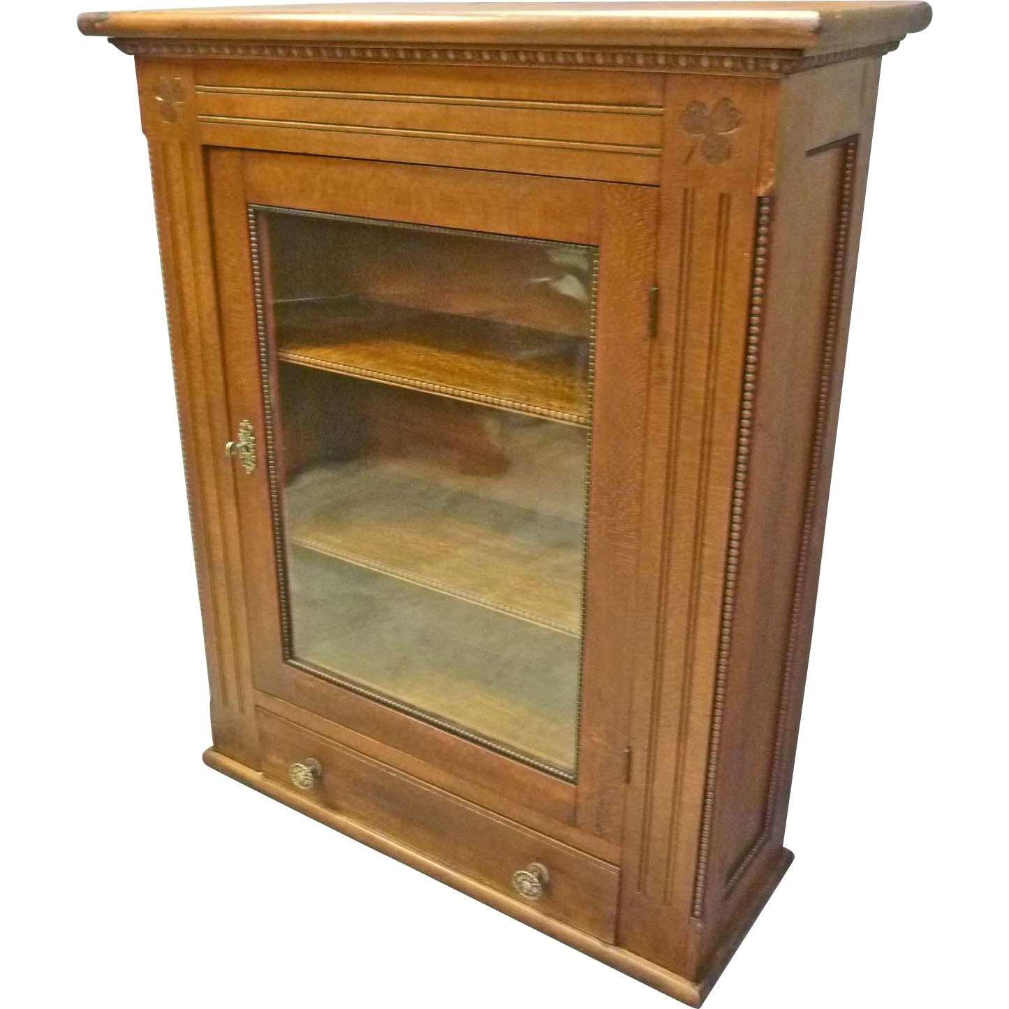 Tiger Maple Wall Hanging Cabinet