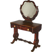 Rosewood Victorian Vanity, Dressing Table