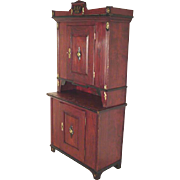 Pine Cupboard Dated 1838, Scandinavian