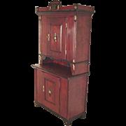 Pine Cupboard Dated 1838, Scandinavian