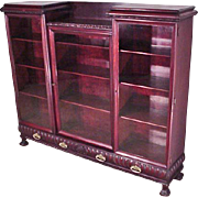 Mahogany Chippendale Bookcase with 3 Doors