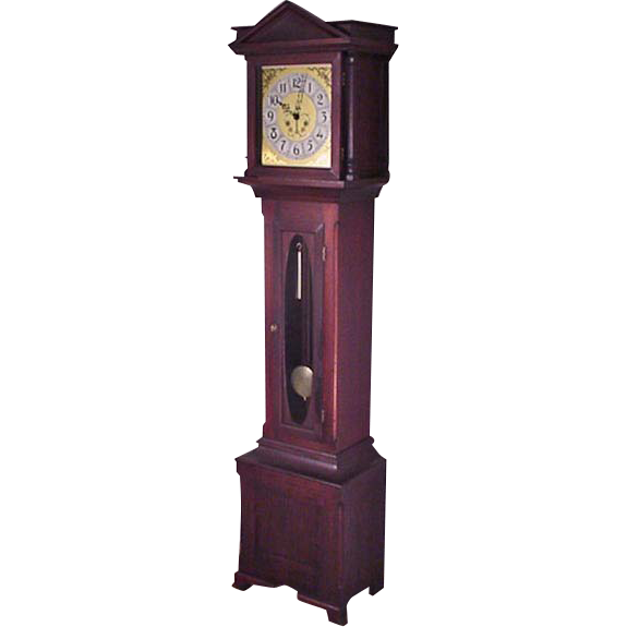 Mahogany Grandfather Clock, Tall Clock with Gong