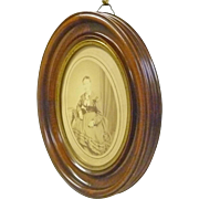 Oval Walnut Frame with Photograph