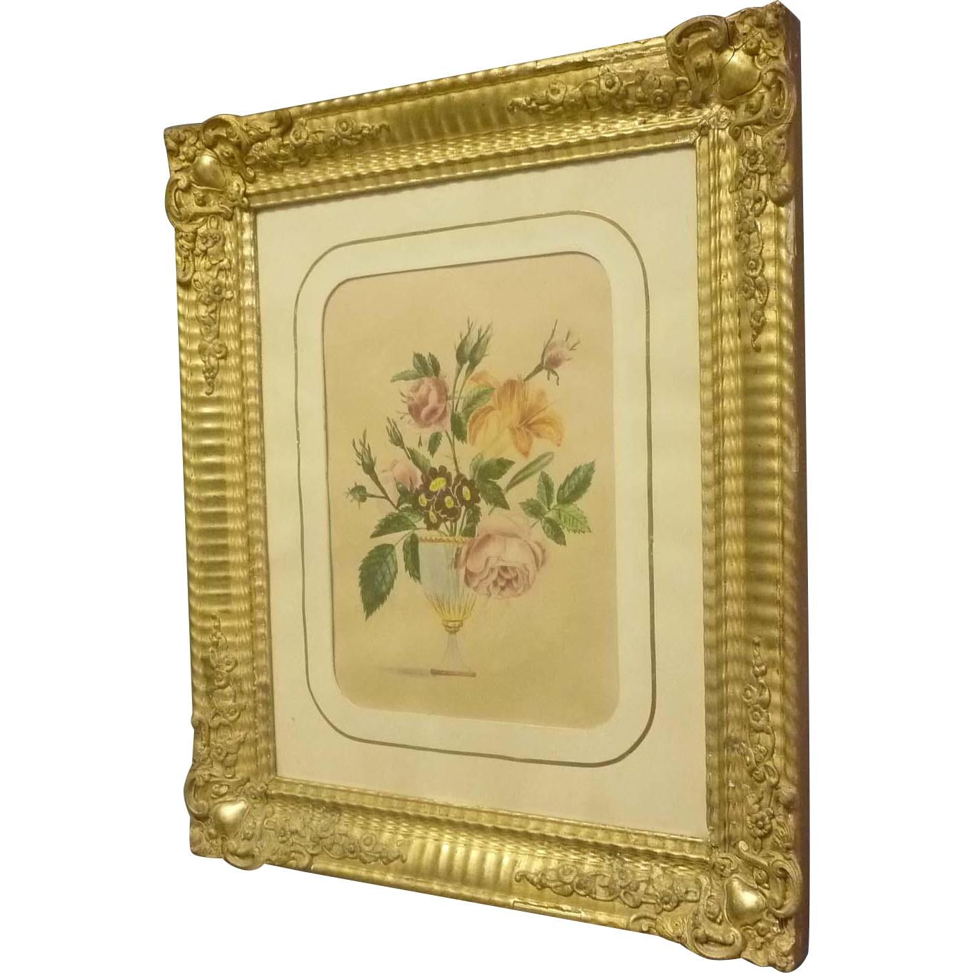 Early Victorian Still Life Watercolor