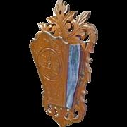 Victorian Walnut Wall Pocket