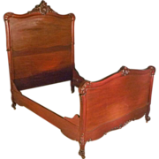 Mahogany Victorian Bed, Full or Queen Size by R.J. Horner