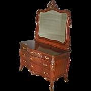 Mahogany Victorian Carved Dresser by R.J. Horner