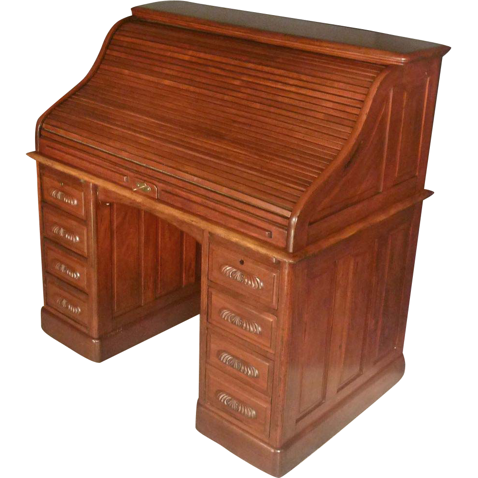 Mahogany Roll Top Desk From Antiquesonhanover On Ruby Lane