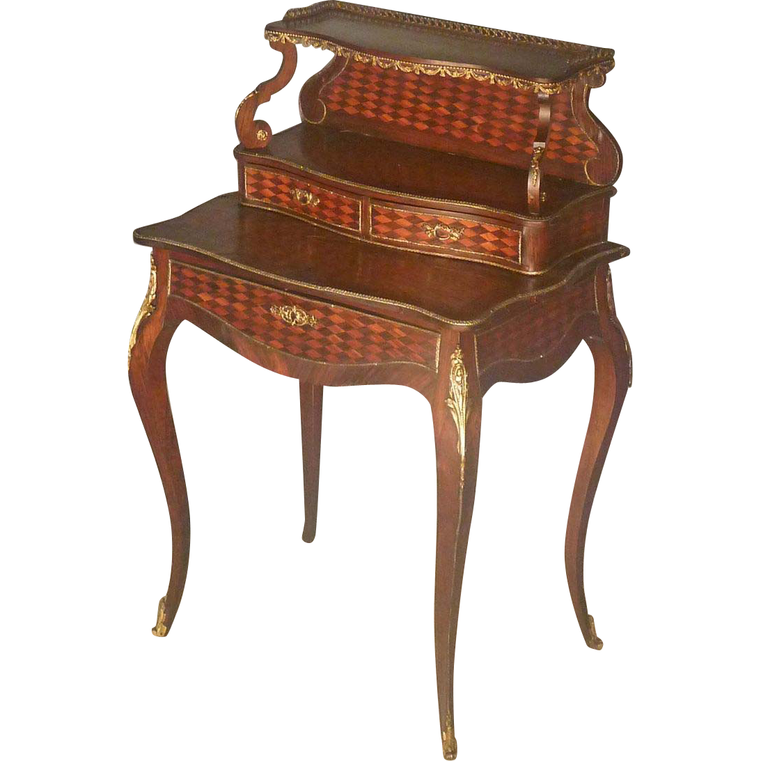 French Inlaid Lady's Writing Desk