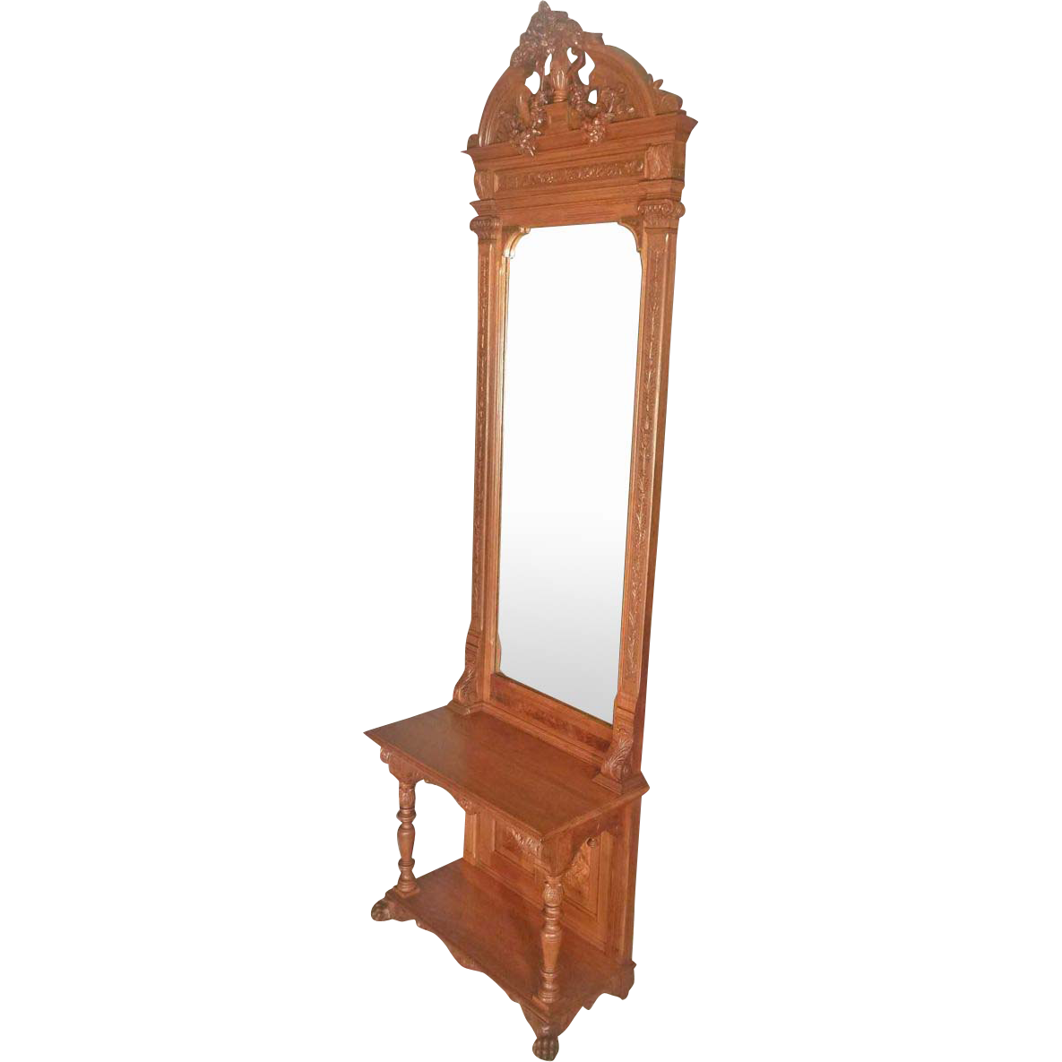 Walnut Victorian Pier, Hall Mirror
