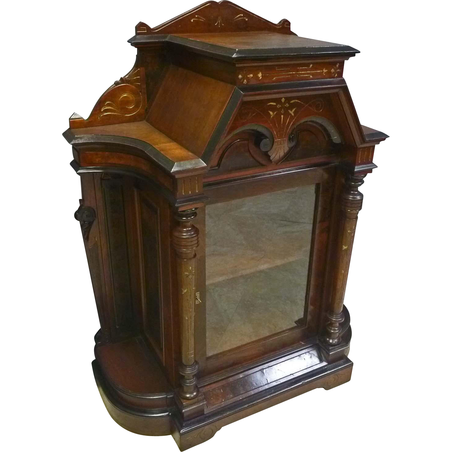 Victorian Display Parlor Cabinet