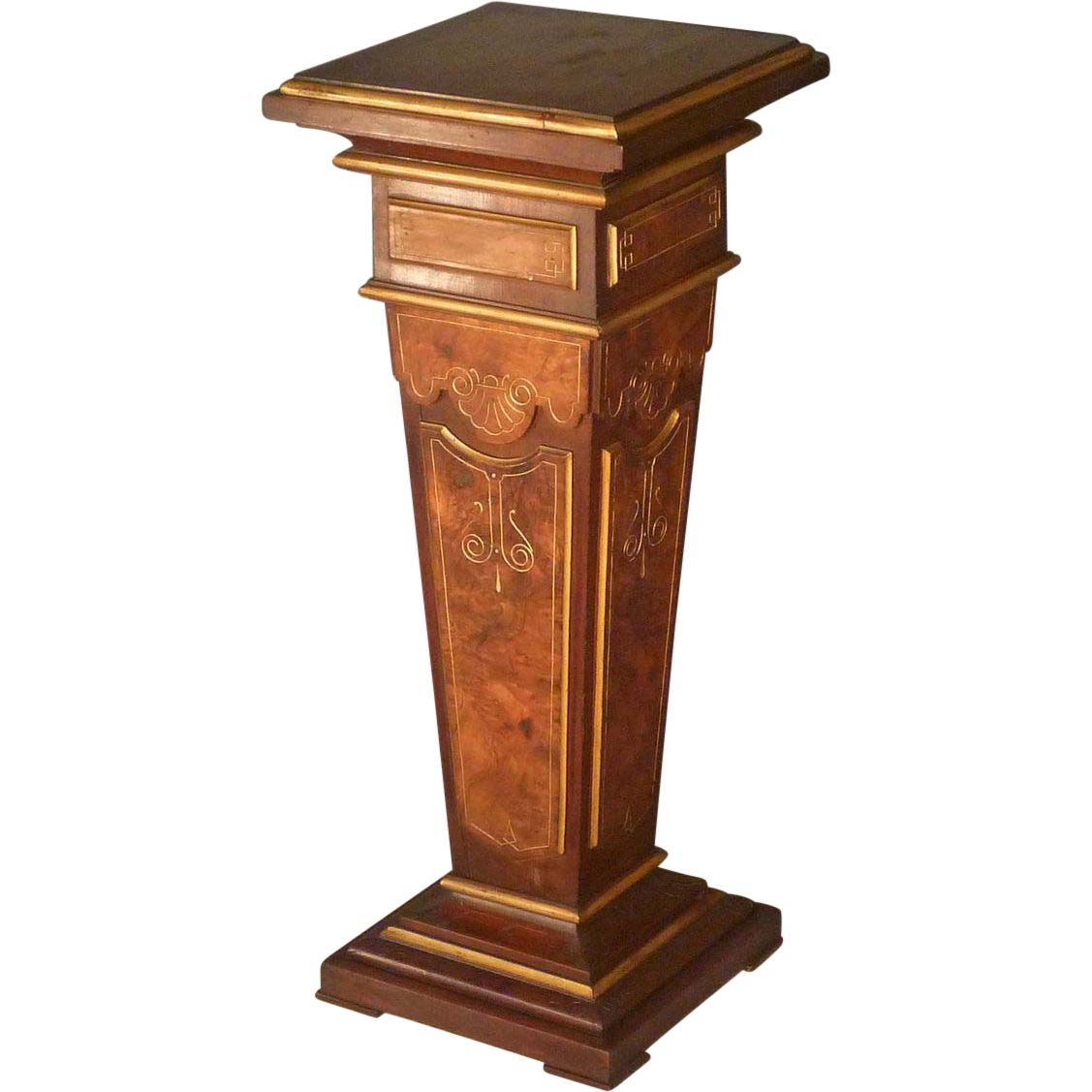 Victorian Renaissance Revival Pedestal on Victorian Bedroom Furniture