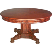 Empire Mahogany Dining Table, Expands to 14""