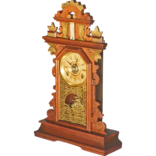 Walnut Victorian Shelf Clock