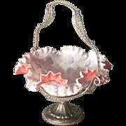 Victorian Silver Plate Bride's Basket