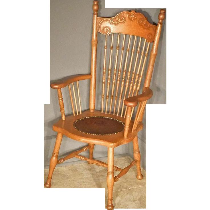 Oak Armchair, Desk Chair