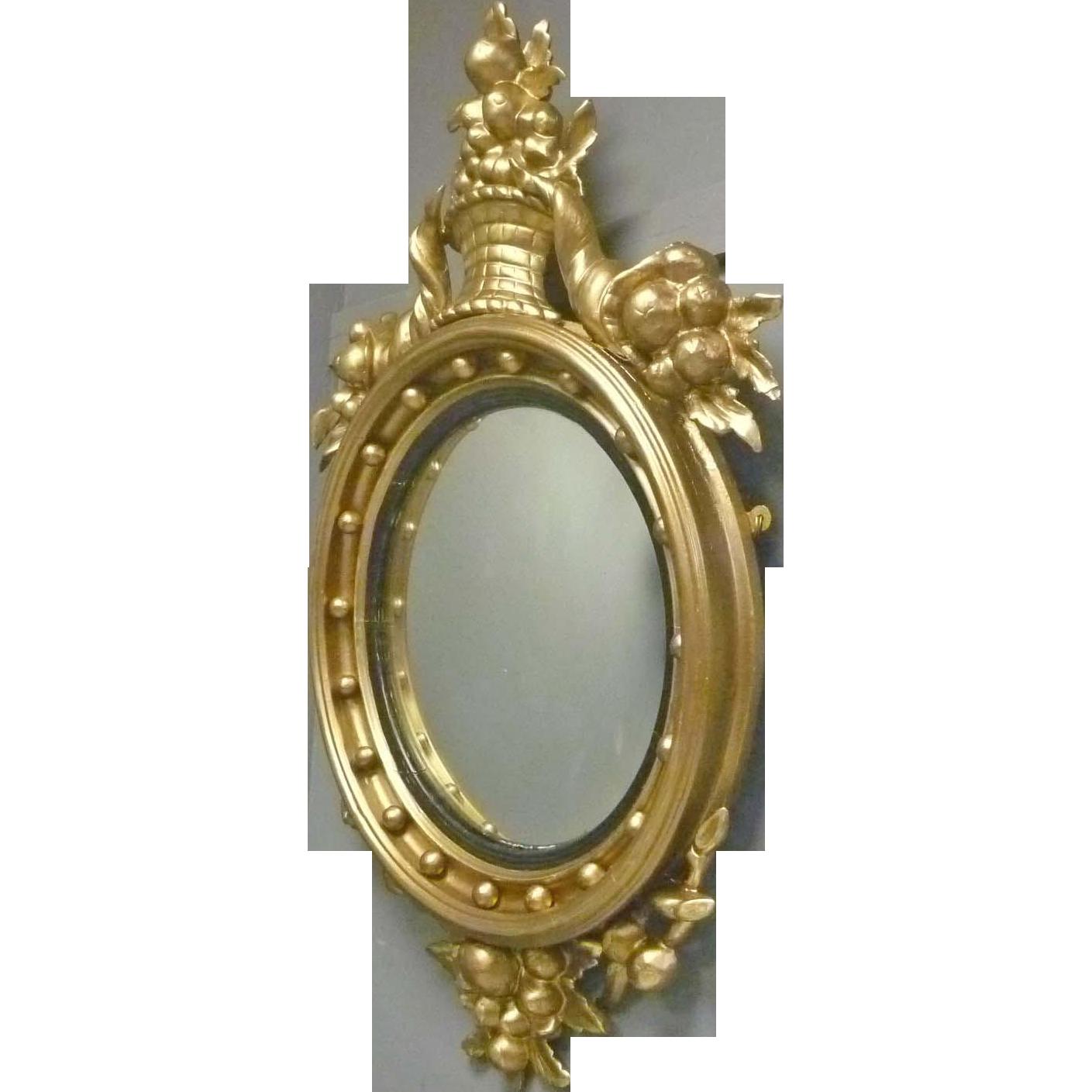 Early Convex Mirror with Cornucopias