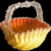 Victorian Art Glass Basket