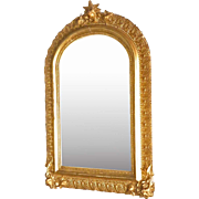 Small Victorian Gold Gilt Mirror