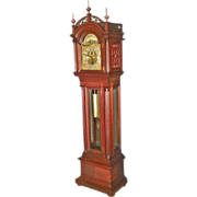Mahogany Grandfather Tall Clock by Herschede
