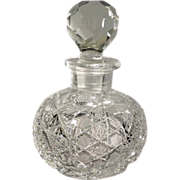 Large Cut Glass Perfume