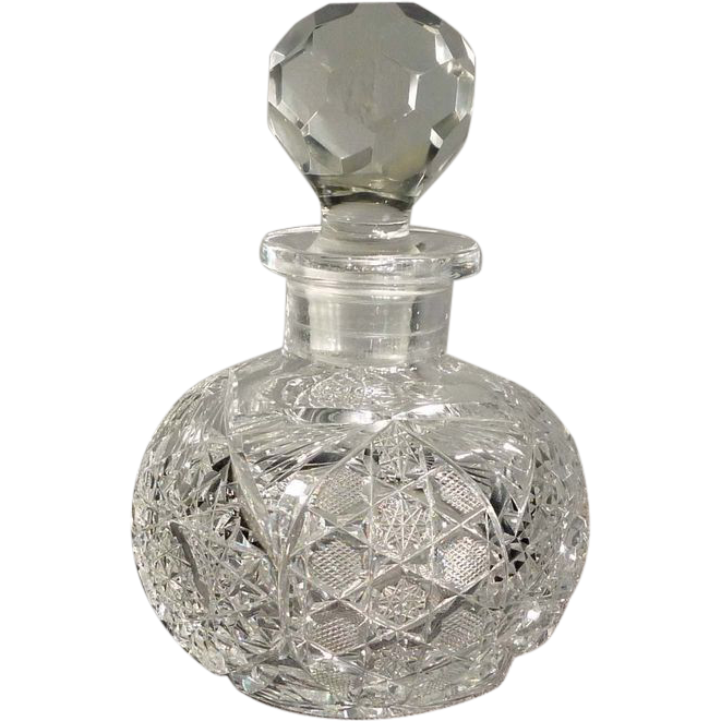 Large Cut Glass Perfume