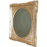 Victorian Silver & Gold Mantle Mirror