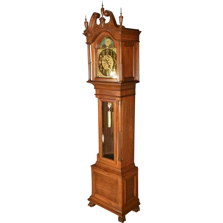 Mahogany Grandfather Clock, J.E. Caldwell