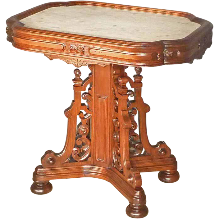 Picture frame marble top table from antiquesonhanover on for Transmutation table 85 items
